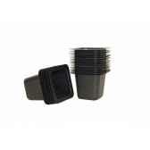 plastpot 20 pots carre noir intermas 2005863