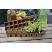 growing pots plaques de culture 100 biodegradables intermas 160005