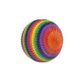 boules decoratives striees o 50 cm rainbow ininflammable papstar 19396