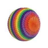 boules decoratives striees o 70 cm rainbow ininflammable papstar 81312