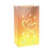 luminaria decolight grand format 26 cm x 15 cm x 9 cm big love ininflammable papstar 81362