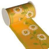 banderole pour decoration de table 5 m x 11 cm jaune daisy papstar 80424