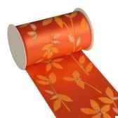 banderole pour decoration de table 5 m x 11 cm terracotta textile leaves papstar 80421