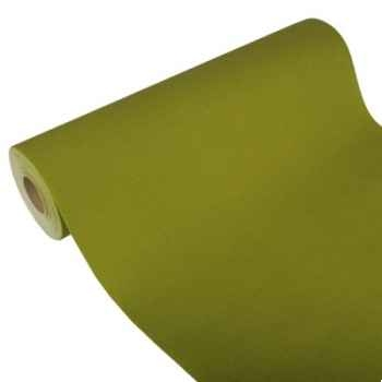 "Chemin de table ""royal collection"" 20 m x 40 cm vert olive en rouleau papstar -81745"