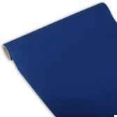 chemin de table royacollection 3 m x 40 cm bleu fonce en rouleau papstar 81401