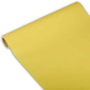 """Chemin de table """"royal collection"""" 3 m x 40 cm jaune en rouleau papstar -81406"""