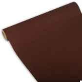 chemin de table royacollection 3 m x 40 cm marron en rouleau papstar 81407