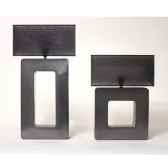 lampe sunset rectangle design fdc 6275argent