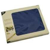 sets de table tissue royacollection 30 cm x 40 cm bleu fonce papstar 81900