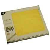 sets de table tissue royacollection 30 cm x 40 cm jaune papstar 81896