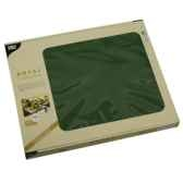 sets de table tissue royacollection 30 cm x 40 cm vert fonce papstar 81899