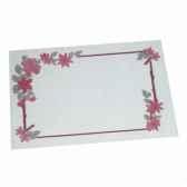 sets de table papier 30 cm x 40 cm blanc fleurs papstar 12557