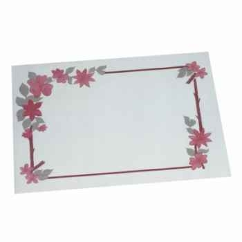 "Sets de table, papier 30 cm x 40 cm blanc ""fleurs"" papstar -12557"