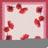 surnappe aspect textile airlaid 80 cm x 80 cm poppy flowers laque papstar 81069
