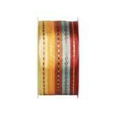 ruban de decoration 2 m x 40 mm bali automne papstar 80379