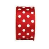 ruban de decoration 2 m x 40 mm rouge dots papstar 80378
