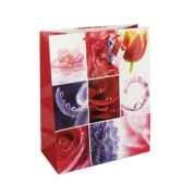 sac en papier glace grand 32 cm x 26 cm x 13 cm flower papstar 14029