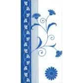 serviettes invitation pliage 1 8 33 cm x 33 cm bleu flowers papstar 19488