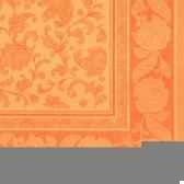 serviettes royacollection pliage 1 4 40 cm x 40 cm orange ornaments papstar 11419