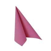 serviettes royacollection pliage 1 4 33 cm x 33 cm fuchsia papstar 81667