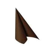 serviettes royacollection pliage 1 4 25 cm x 25 cm marron papstar 10479