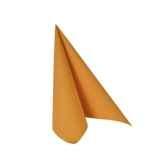 serviettes royacollection pliage 1 4 25 cm x 25 cm orange papstar 81669