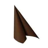 serviettes royacollection pliage 1 4 33 cm x 33 cm marron papstar 10754