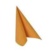 serviettes royacollection pliage 1 4 33 cm x 33 cm orange papstar 81664