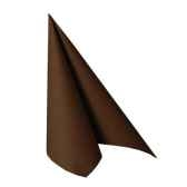 serviettes royacollection pliage 1 4 40 cm x 40 cm marron papstar 10759