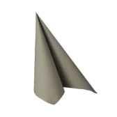 serviettes royacollection pliage 1 4 33 cm x 33 cm gris papstar 10755