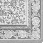 serviettes royacollection pliage 1 4 40 cm x 40 cm gris ornaments papstar 19819