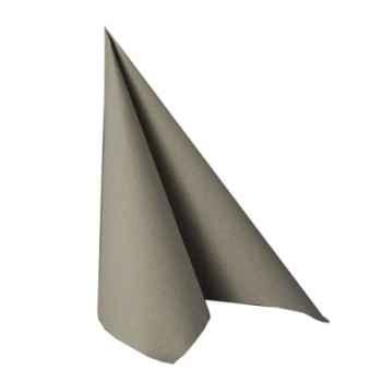 """Serviettes """"royal collection"""" pliage 1/4 40 cm x 40 cm gris papstar -10822"""