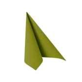 serviettes royacollection pliage 1 4 25 cm x 25 cm vert olive papstar 81670