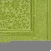 serviettes royacollection pliage 1 4 40 cm x 40 cm vert olive ornaments papstar 81793