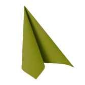 serviettes royacollection pliage 1 4 40 cm x 40 cm vert olive papstar 81749