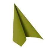serviettes royacollection pliage 1 4 40 cm x 40 cm vert olive papstar 81661