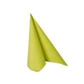 serviettes royacollection pliage 1 4 25 cm x 25 cm vert papstar 10478