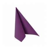 serviettes royacollection pliage 1 4 25 cm x 25 cm violet papstar 81668