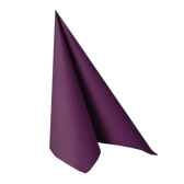 serviettes royacollection pliage 1 4 40 cm x 40 cm violet papstar 10761
