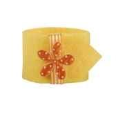 ronds de serviettes o 4 cm jaune flower papstar 81727