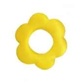 ronds de serviettes o 60 mm jaune flower papstar 19071