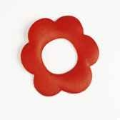 ronds de serviettes o 60 mm rouge flower papstar 19590