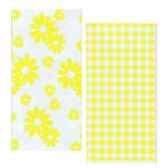 serviettes 2 plis pliage 1 8 33 cm x 33 cm jaune vichy flowers papstar 10283