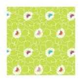 serviettes 3 plis pliage 1 4 25 cm x 25 cm fleur papstar 81695