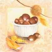 serviettes 3 plis pliage 1 4 33 cm x 33 cm chestnut collection papstar 81798