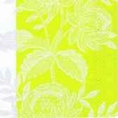 serviettes 3 plis pliage 1 4 33 cm x 33 cm embroidery flower papstar 10580