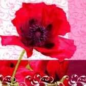 serviettes 3 plis pliage 1 4 33 cm x 33 cm poppy flower papstar 10710