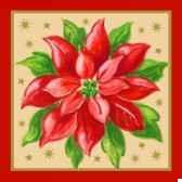 serviettes 3 plis pliage 1 4 25 cm x 25 cm christmas accents papstar 17003