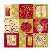 serviettes 3 plis pliage 1 4 25 cm x 25 cm christmas symbols papstar 81804