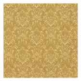 serviettes 3 plis pliage 1 4 25 cm x 25 cm or ornament papstar 10612